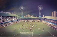 West Ham  v Manchester Utd 1976 - 20'' x 30'' approx poster print